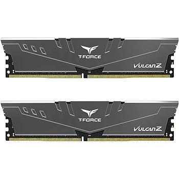 TEAMGROUP T-Force Vulcan Z DDR4 16GB Kit (2 x 8GB) 3200MHz (PC4 25600) CL16 Desktop Memory Module Ram - Gray - TLZGD416G3200HC16CDC01