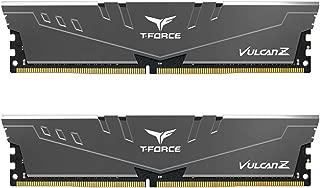 TEAMGROUP T-Force Vulcan Z DDR4 16GB Kit (2 x 8GB) 3000MHz (PC4 24000) CL16 Desktop Memory Module Ram - Gray - TLZGD416G3000HC16CDC01