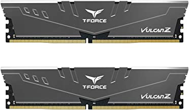 TEAMGROUP T-Force Vulcan Z DDR4 16GB Kit (2 x 8GB) 3000MHz (PC4 24000) CL16 Desktop Memory Module Ram - Gray - TLZGD416G3000HC16CDC01