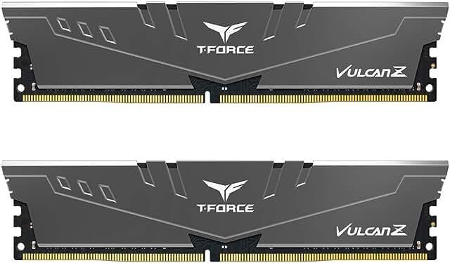 TEAMGROUP T-Force Vulcan Z DDR4 16GB Kit (2x8GB) 3200MHz (PC4-25600) CL16 Desktop Memory Module Ram (Gray) - TLZGD416G3200HC16CDC01