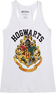 Distressed Hogwarts Crest Juniors Tank Top