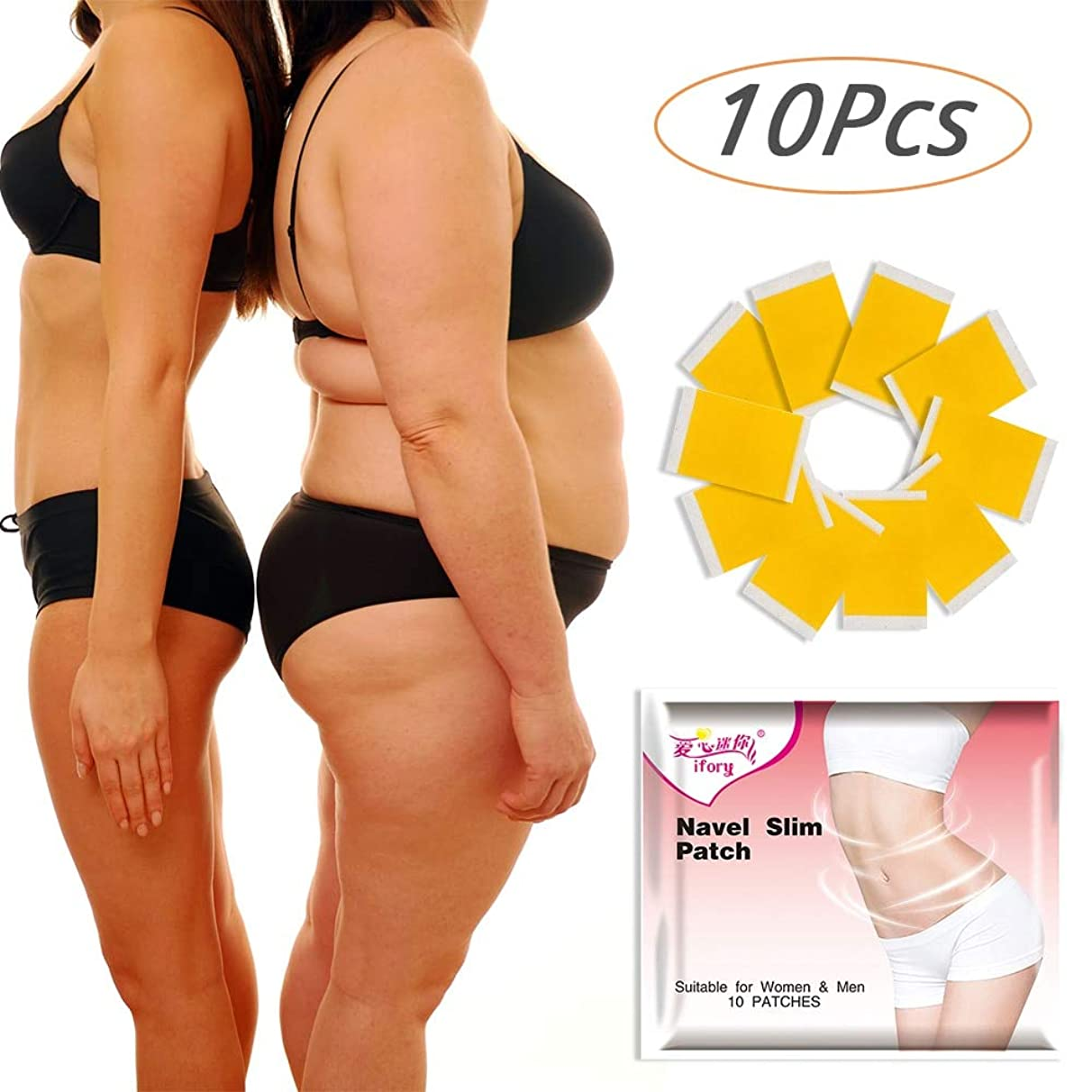 Weight Loss Ifory 10 Pieces/Bag Slim Patch Navel Stick Slimming Creams Fat Burner Body Shaper