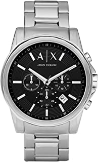 armani exchange ax2058 men's chronograph bracelet watch silver
