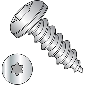 Pan Head Pack of 25 #10-16 Thread Size Small Parts 1020ABTP188 1-1//4 Length 1-1//4 Length Plain Finish Star Drive 18-8 Stainless Steel Sheet Metal Screw Type AB Pack of 25