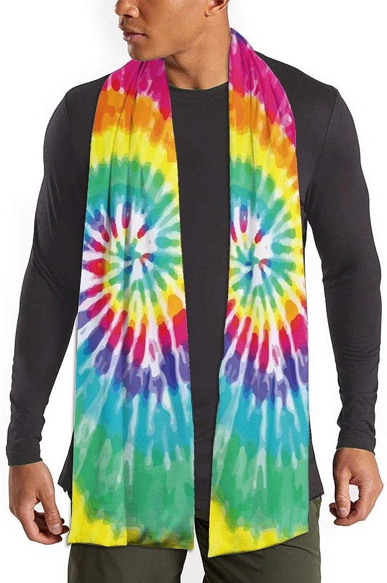 Tie Dye Winter Fall Fashion Scarf Warm Long Soft Neckerchief For Men And Women