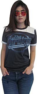 BUNNY BRAND Women's The Strokes Magna Logo Music Ringer T-Shirt Jersey Thin Soft New