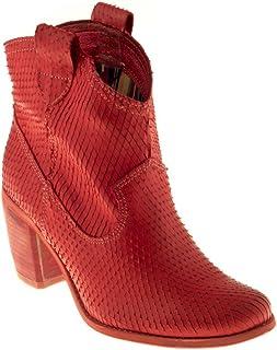 como comprar una gran variedad de modelos descubre las últimas tendencias Amazon.es: Botas Cowboy Mujer - Rojo