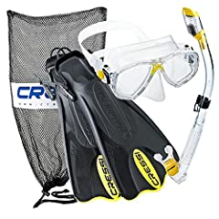 Includes: Palau short fins - silicone two window mask - 100% dry snorkel - carry mesh bag The dry snorkel has an original anti-splash end with a special valve that seals the tube as you dive Anti-Splash end with automatically closing valve | ergonomi...