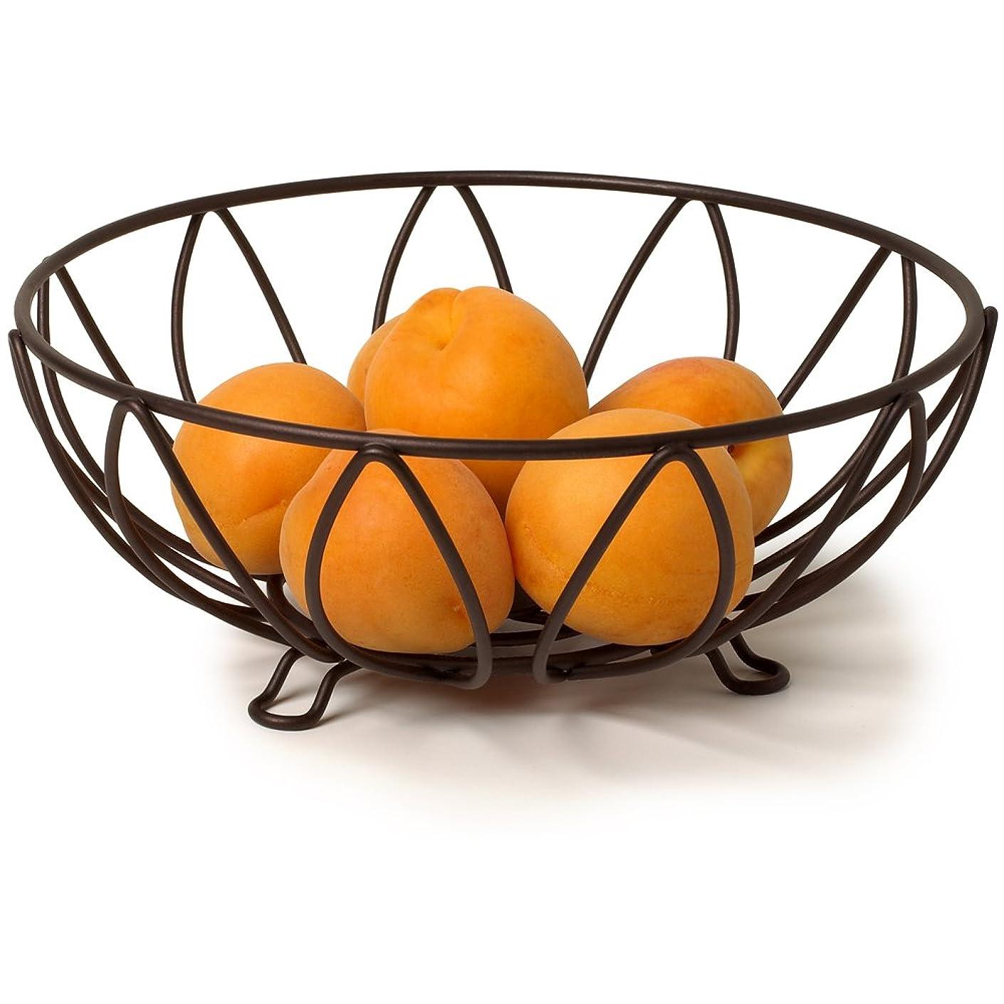熱帯の直接電気陽性ワイヤフルーツバスケットリーフブロンズ