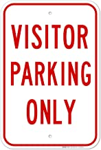 Visitor Parking Only Sign, Large 12x18 Rust Free .63 Aluminum, Weather/Fade Resistant, Easy Mounting, Indoor/Outdoor Use, ...