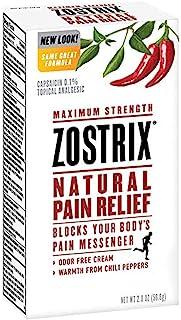 Sponsored Ad - Zostrix Maximum Strength Natural Pain Relief Cream, Capsaicin Pain Reliever, Odor Free, 2 Ounce Tube