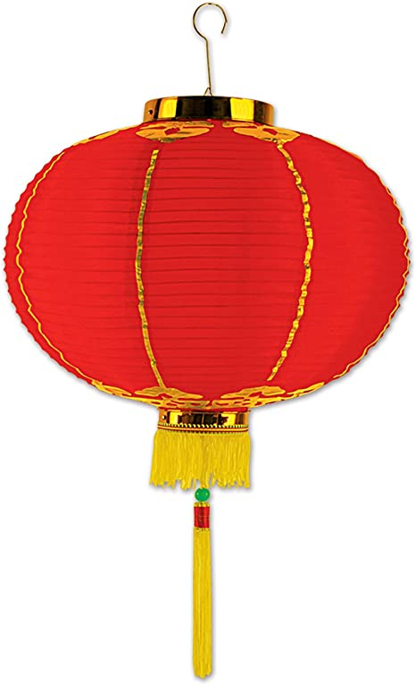 Amazon Com Beistle Good Luck Lantern With Tassel 12 Red Yellow Novelty Lamps Toys Games