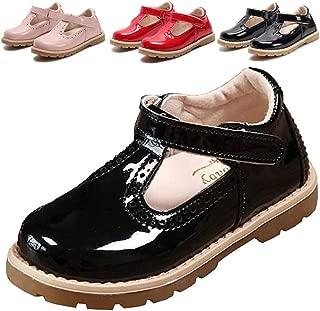 Girl's T-Strap School Uniform Dress Shoe Mary Jane Princess Flat