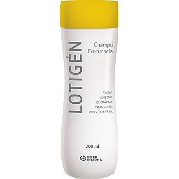 LOTIGÉN – Champú suave 100% natural de uso frecuente, diseñado para la higiene diaria del cabello. Champú con queratina, avena y vitaminas para cabello dañado, frágil y fino – 300 ml: Amazon.es: Belleza