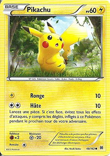 Tarjeta Pokemon – Pikachu – PV 60 – 48/162 – Commune – VF