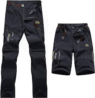 31a7d1847 7VSTOHS Pantalones de Senderismo de Secado rápido para Hombre con  Cremallera Transpirable Ligero Casual al Aire