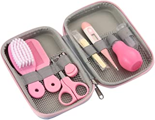 Baby Grooming Kit, 8 in 1 Baby Hair Brush/Nail Clipper/Nose Cleaner/Finger Toothbrush/Nail Scissors/Manicure Kit for Baby ...