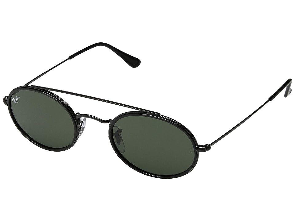 Ray-Ban RB3847N 52 mm. (Black/Green) Fashion Sunglasses