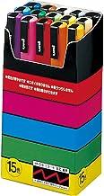 Uni-Posca Paint Marker Pen- Fine Point- Set of 15 (PC-3M15C), red,blue,yellow