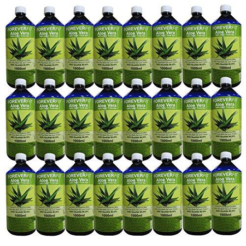ForeverFit Aloe Vera Trinkgel 24 x 1000ml Barbadensis Miller Blattgel unverdünnt KEIN Saft KEIN Konzentrat OHNE künstliche Vitamine. Acemannan bis 1200mg/Liter. 30244