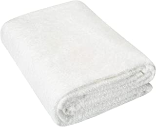 HOMEIDEAS Luxury Bath Sheet, Machine Washable, Super Soft & Highly Absorbent Bath Towel for Bathroom, Cotton35 x 80 inches, White (1 Pack: 35