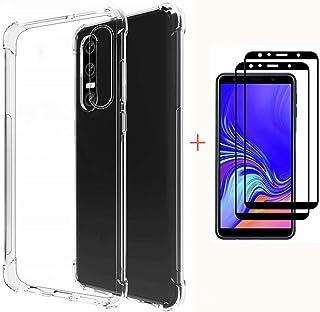 Fanxwu genomskinlig mjuk TPU-silikon [2 * skärmskydd i härdat glas] luftkudde design skinn skydd mot repor, Xiaomi Redmi K20