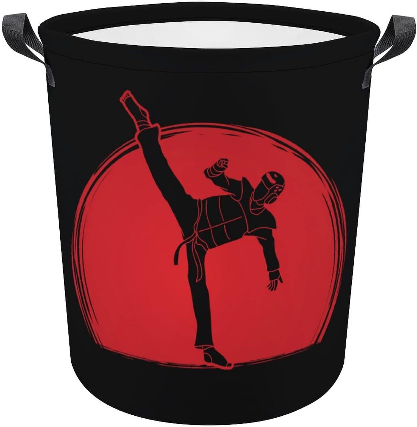 Funny Taekwondo High Kick on Hamper Oxford Gift Dealing full price reduction Large discharge sale Laundry Sunlight
