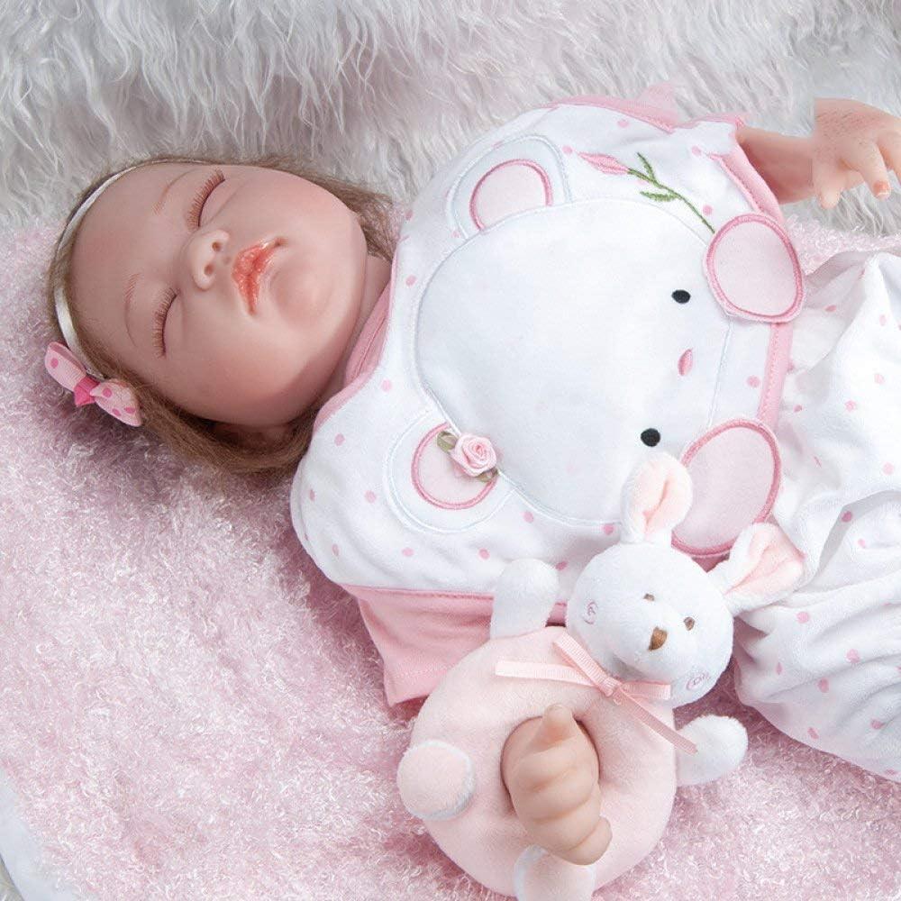 Reborn-poppen, simulatie baby 55 cm Reborn baby kind speelgoed siliconen pop meisje, 55 cm, verzorgende poppen 55cm