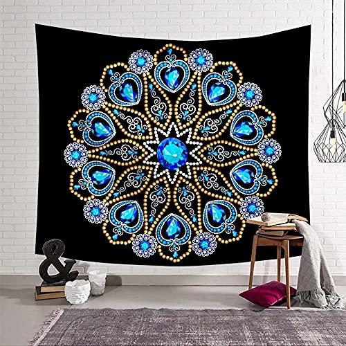 Tapiz de mandala, cabecero de pared, colcha para dormitorio, tapiz de mandala para sala de estar, dormitorio, decoración del hogar, alfombra de picnic, esterilla de yoga, 150x200cm