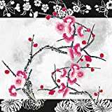 Fantastic Dining Collection Flowers #34| Pack of 20 Lunch Napkins, 20 Count, Cherry Blossom Joy