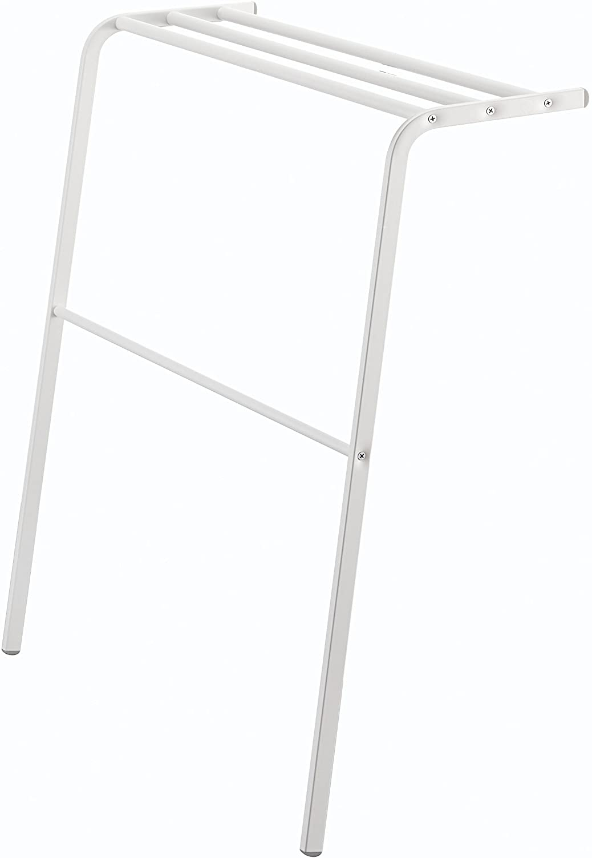 YAMAZAKI home Plate Leaning New York Mall Bath Hanger Ultra-Cheap Deals White Towel
