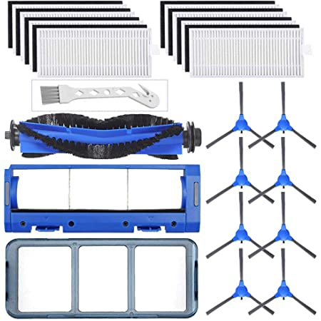 14x Vacuum Cleaner Filters Brushes Compatible for Eufy Robovac 11S 30 30C 15C 12