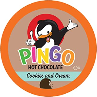 Pingo Single-Cup Hot Cocoa for Keurig K-Cup Brewers, Cookies and Cream, 40 Count