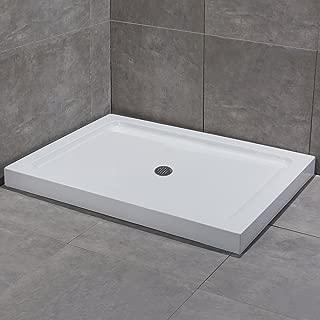 WoodbridgeBath SBR4836M Woodbridge Reversible Acrylic Shower Center Drain Base, 48