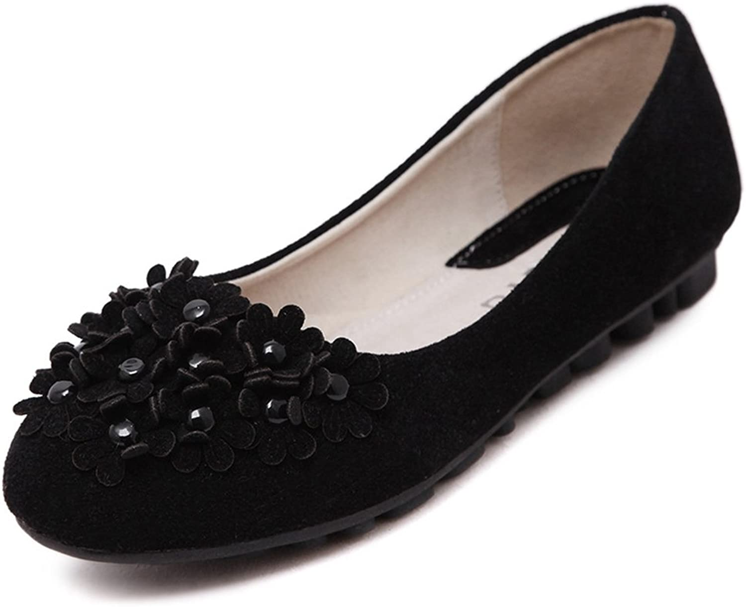 CYBLING Casual Slip On Loafers shoes for Women Outdoor Walking Soft Soled Flowers Flats