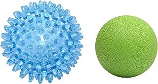 Pelota de Masaje, 2 Piezas Fascia Release Balls Masaje Lacrosse Ball Release Muscular para Cuello/Espalda/Pies/Brazo Spiky Massage Ball para Estimular Baby Sensory
