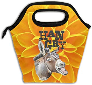 Insulated Lunch Bag Large Hangry Donkey With White Teeth Funny Donkey Lunch Tote Bag For Men Or Women