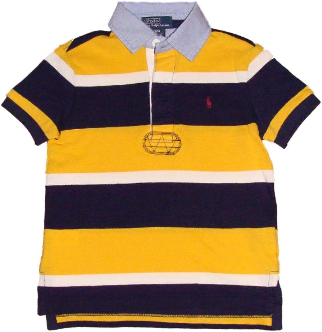 Ralph Lauren Polo Rugby-Collar Striped Boys Polo (2T-20)