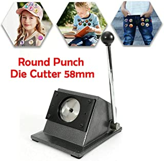 Badge Cutting Machine Graphic Special Button/Card/Badge Maker Manual Round Punch Die Cutter 58mm US Stock