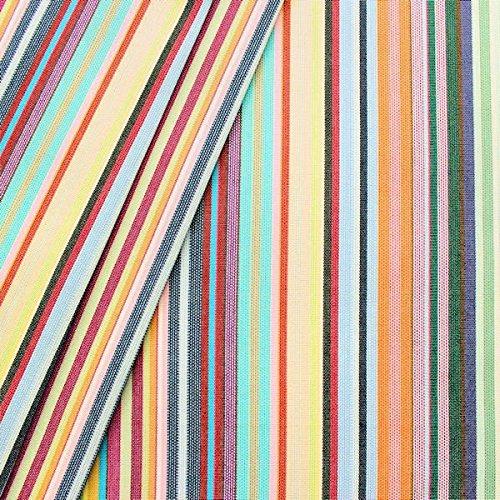 STOFFKONTOR Markisenstoff Outdoorstoff Streifen Meterware Multicolor