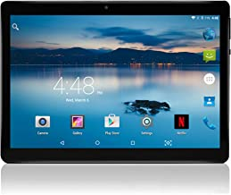 Android Tablet 10 inch Manjee Unlocked 3G Phablet Pad with 2 SIM Card Slots 4+64GB Built-in WiFi GPS FM (Black)