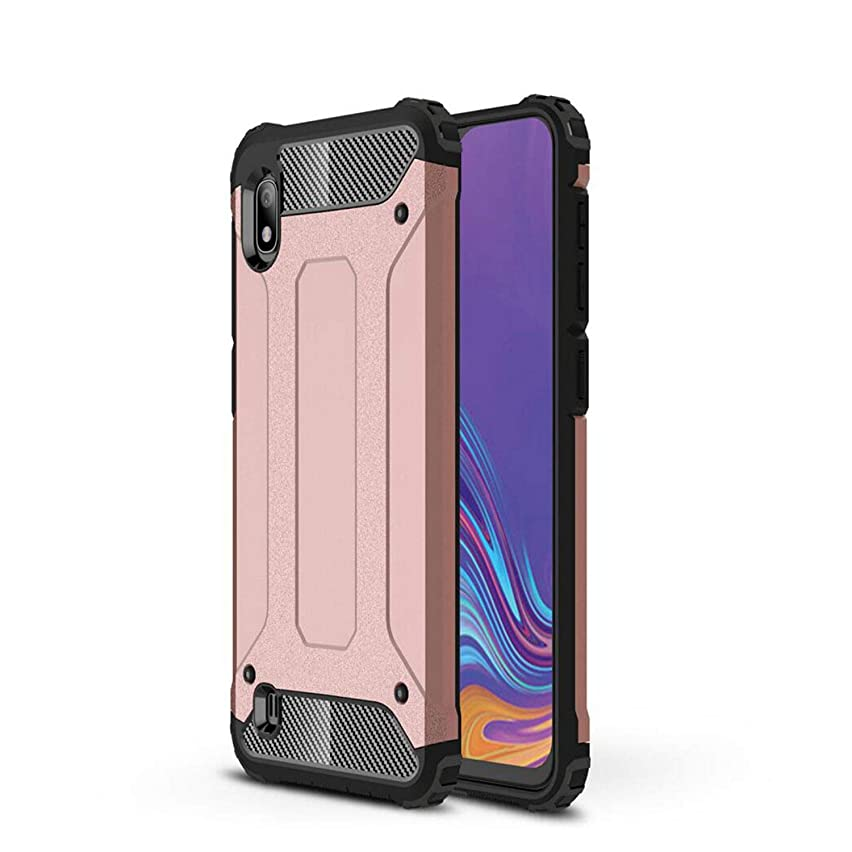 Armor Back Cover Galaxy A10 Case,FAIRYCASE PC Hard Shell + TPU Soft Rubber Double Protection Case for Samsung Galaxy A10 6.2inch(2019),Rose Gold