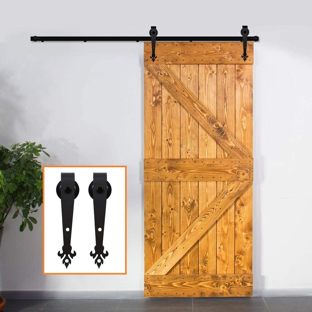 3.5-16FT Sliding Barn Door Hardware Kit and Max 63% OFF Gorgeous Heavy Duty Smoothly