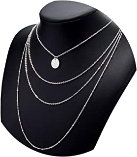 2018 Gold Coin Layered Necklace Set for Women Charm Choker Necklace