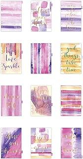 Intercalaires de répertoire, A5 150x210 mm, violet, or, rose, aquarelle, 1Pq, 12 pages