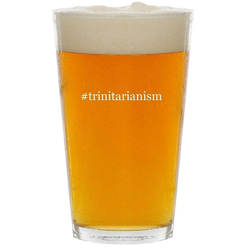 #trinitarianism - Glass Hashtag 16oz Beer Pint