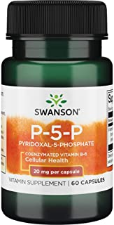 Sponsored Ad - Swanson P-5-P (Pyridoxal-5-Phosphate) Coenzymated Vitaminb-6 20 Milligrams 60 Capsules
