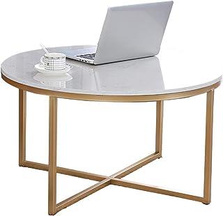 HMH マーブルラウンドサイドテーブル、ホームオフィスデスクリビングルームオフィスカフェの交渉テーブル大型ダイニングテーブル 便利で美しい (Color : A, Size : 60*60*45CM)