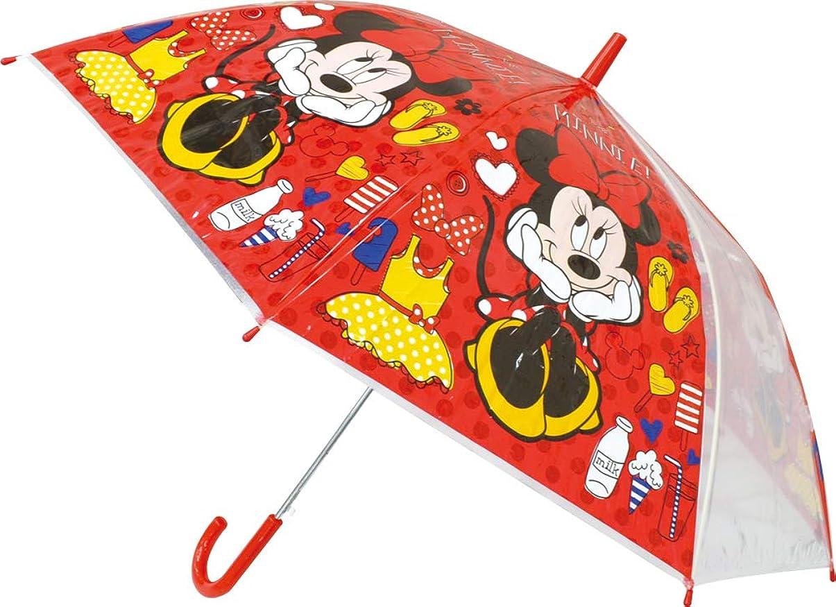 健康的確執ねじれ山二(Yamani) 長傘 ミニー 全長75×Φ86cm キッズ ジャンプ傘 9384