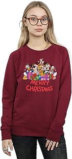 Disney Women's Mickey Mouse And Friends Christmas Sweatshirt